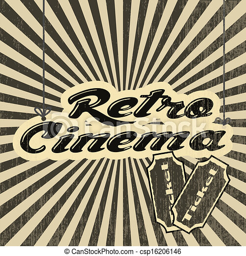 retro cinema - csp16206146