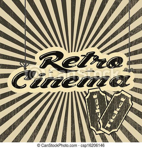 retro cinema - csp16206146