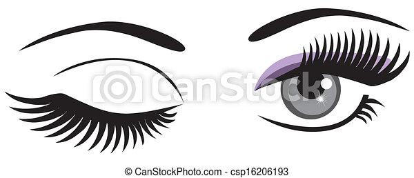 winking - csp16206193