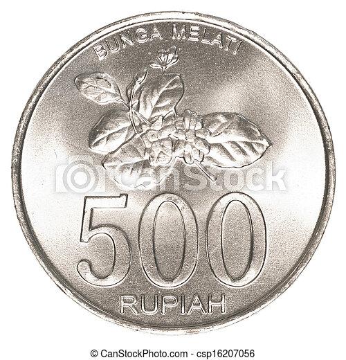 500 Indonesian Rupiah Coin Stock Photo