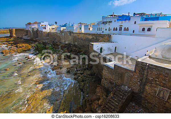 Historic Assilah, Morocco. - csp16208633