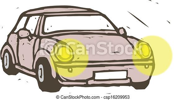 vecteur clipart de voiture phares a voiture les phares sur csp16209953 recherchez. Black Bedroom Furniture Sets. Home Design Ideas