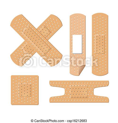 illustration of medical bandages - csp16212683