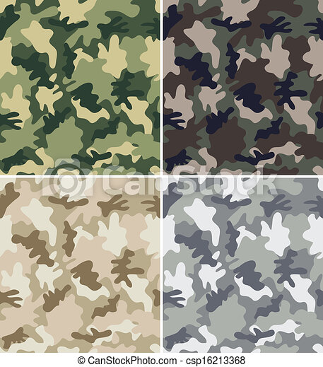 Camouflage Seamless Patterns - csp16213368