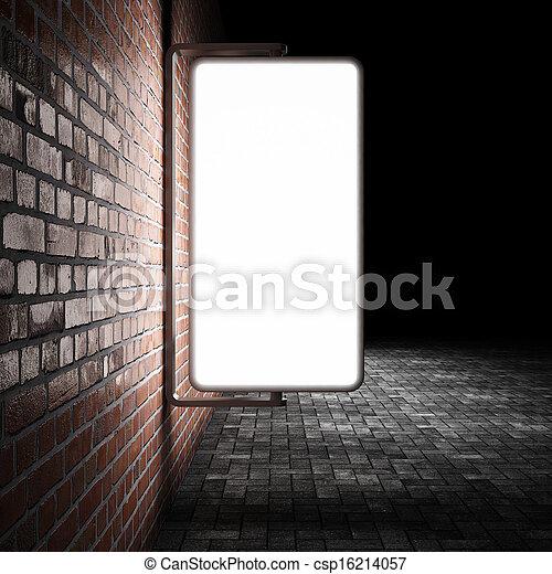 Blank street advertising billboard - csp16214057