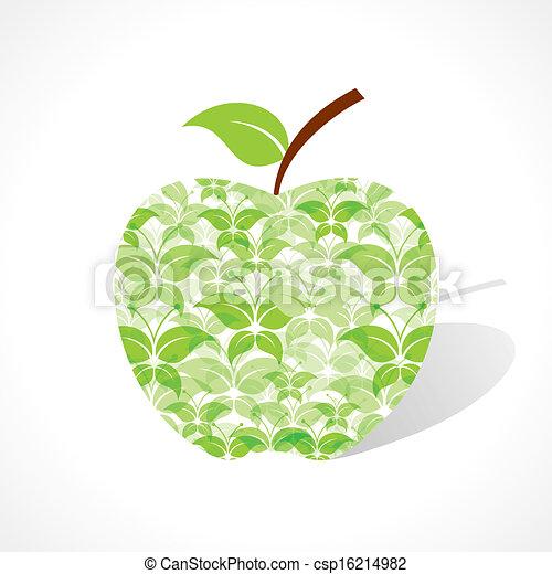 Vecteur de vert papillon faire pomme stockage vecteur csp16214982 recherchez des images - Pomme papillon ...