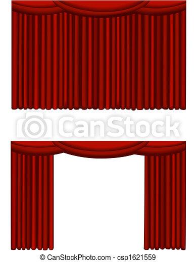 illustration de rideau th tre illustrations de a ferm et une csp1621559. Black Bedroom Furniture Sets. Home Design Ideas