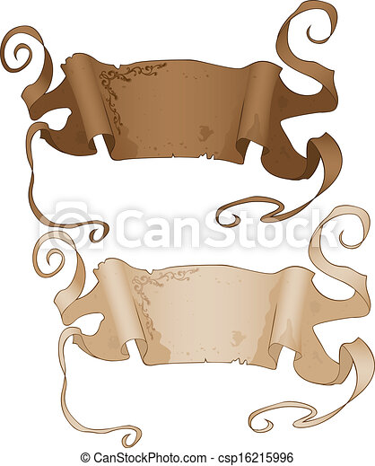 Antique Style Banners - csp16215996