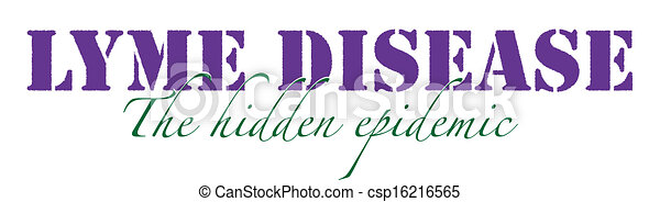 Clip Art Vector of Lyme Disease Graphic - Lyme Disease, the hidden epidemic csp16216565 - Search ...