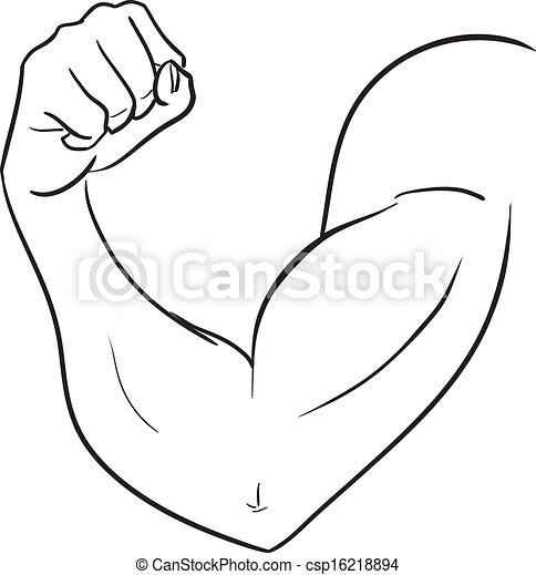 Biceps of strong man  - csp16218894