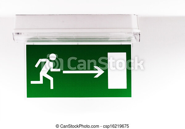 Emergency exit sign - csp16219675