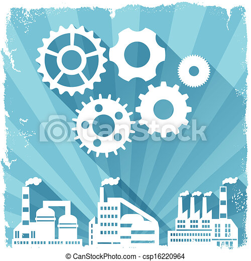 Industrial factory buildings background. - csp16220964