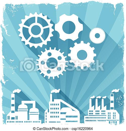 Industrial factory buildings background. - csp16220964