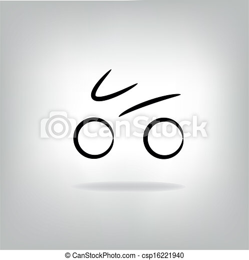 stylized bicycle, vector illustration - csp16221940