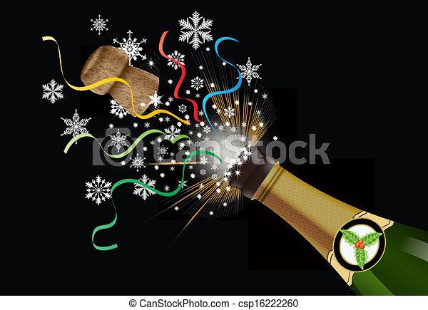clip art vektor von weihnachten knallen kork csp16222260 suchen sie nach clipart. Black Bedroom Furniture Sets. Home Design Ideas