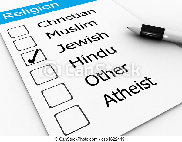 Jewish, religion word  - csp16224431