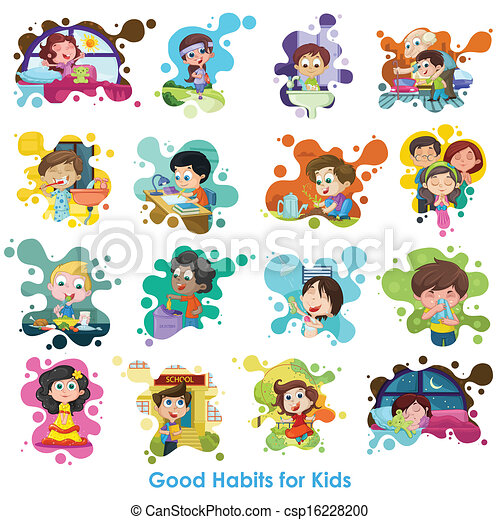 Good Habits Chart - csp16228200