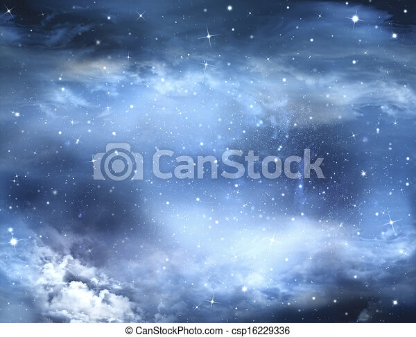 abstract winter sky, background  - csp16229336