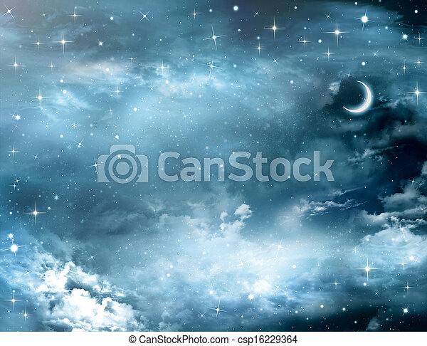 beautiful background, nightly sky - csp16229364