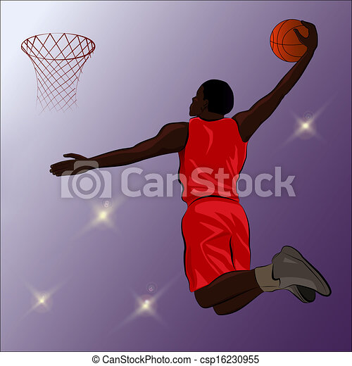 clipart vector of basketball slam dunk illustration a basketball player clipart black and white basketball players clip art for free