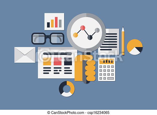 Web analytics illustration - csp16234065