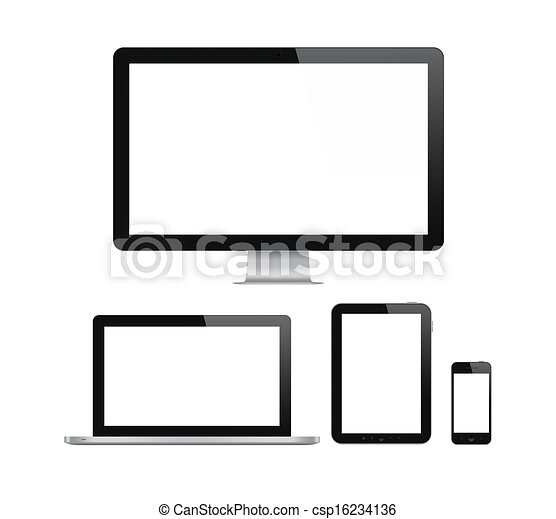 Modern computer and mobile devices set - csp16234136