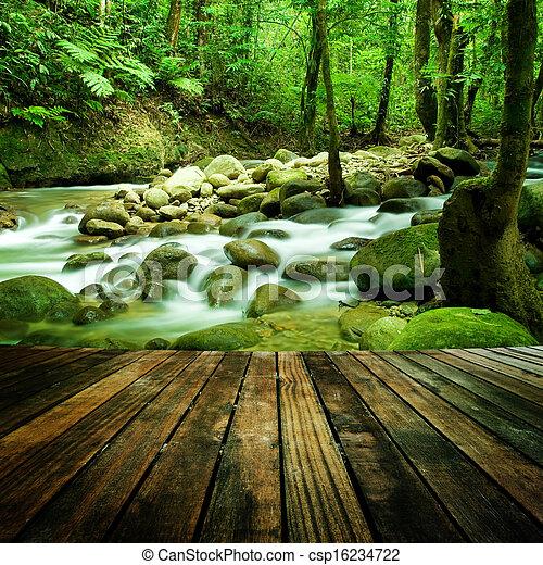 mountain waterfall - csp16234722