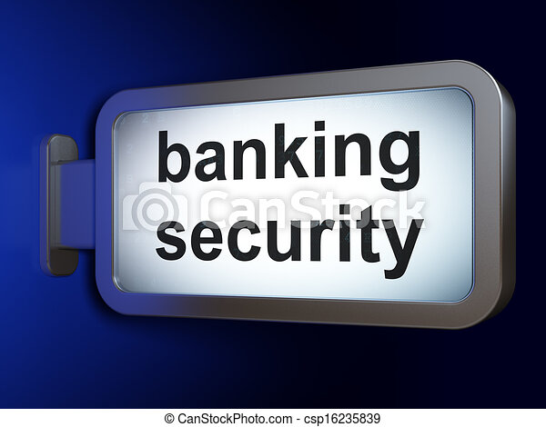 Protection concept: Banking Security on billboard background - csp16235839