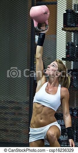 Fitness model emblim gym technique - csp16236329