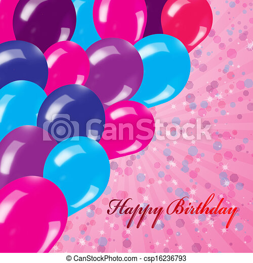 Holiday's background with balloons - csp16236793