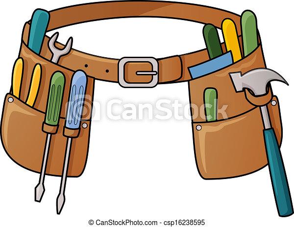 Stock illustration of tool belt - csp16238595