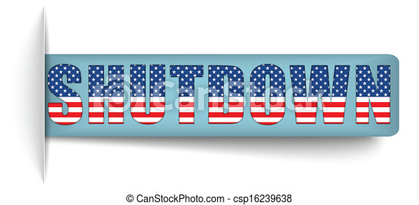 Government Shutdown USA Closed Banners. - csp16239638