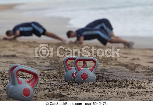 Beach fitness - csp16242473