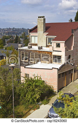 Residential neighborhood Seattle WA. - csp16243060