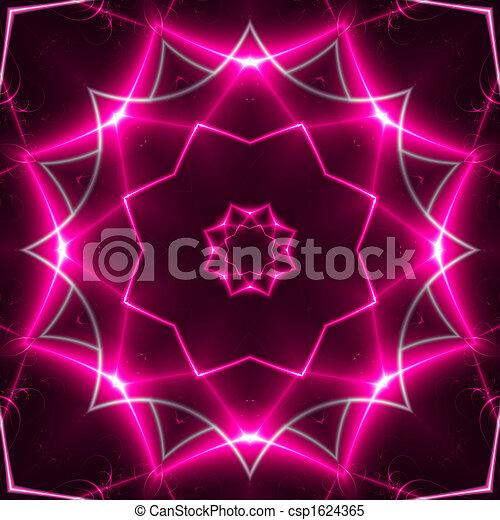 Pink Light Jewel. fractal02x6b - csp1624365