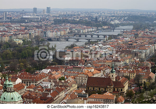 View on Prague Bridges - csp16243817