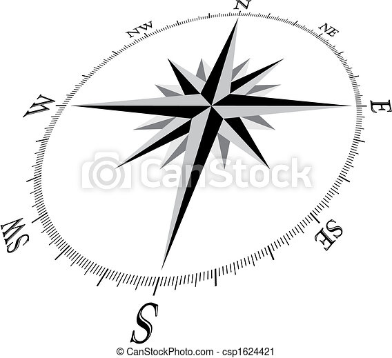 Compass Illustration - csp1624421