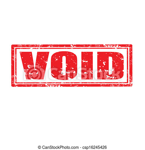 Vector Illustration of Void-stamp - Grunge rubber stamp ...