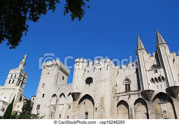 Popes Palace in Avignon - csp16246293