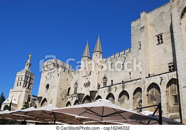 Popes Palace in Avignon - csp16246332