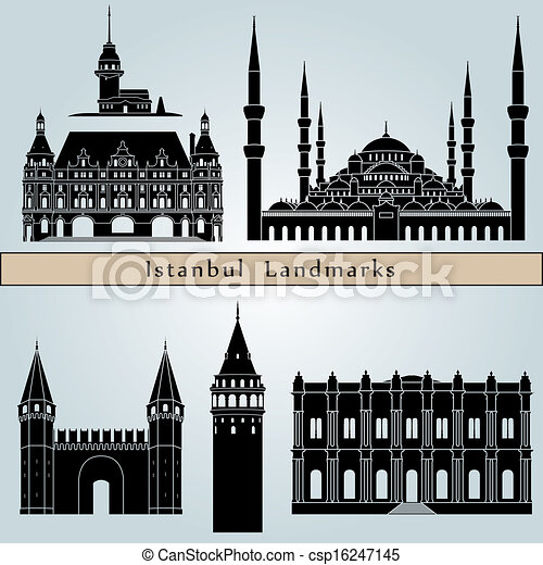Istanbul landmarks and monuments - csp16247145