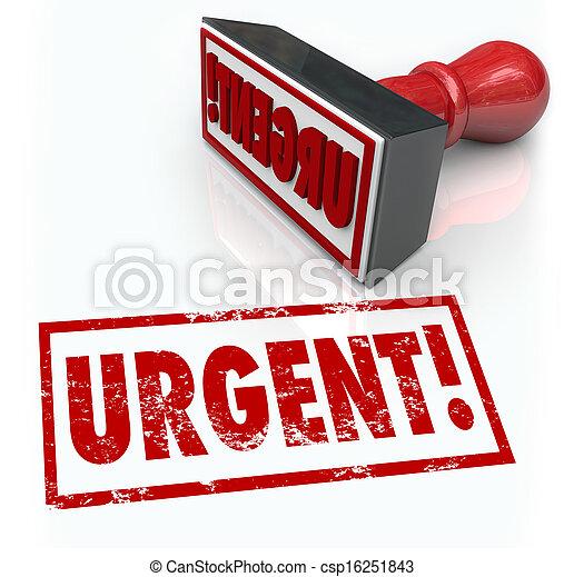 詞, 緊急事件, 郵票, 需要, 立即, 緊急, 行動 - csp16251843