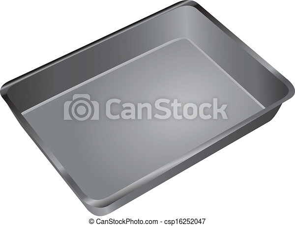 EPS Vector of Cake Pan - A rectangular pan for cooking and ...