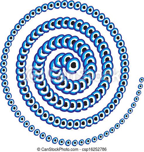blue amulet line vector art - csp16252786