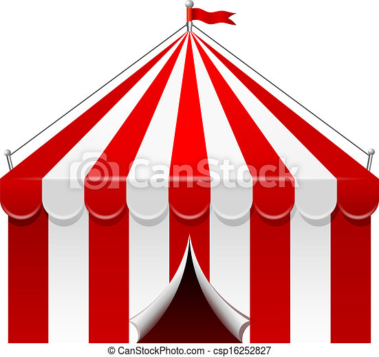 Vector Illustration of Circus tent csp16252827 - Search Clipart ...