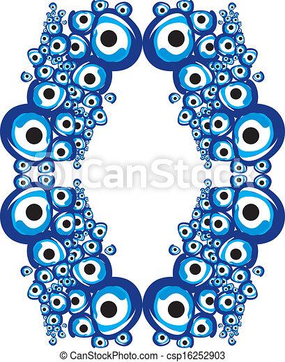 blue amulet line vector art - csp16252903