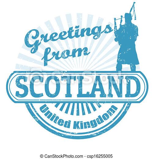 Scotland stamp — Stock Vector © roxanabalint #4152717