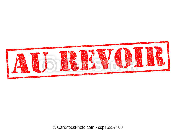 Stock Image of AU REVOIR Rubber Stamp over a white ...