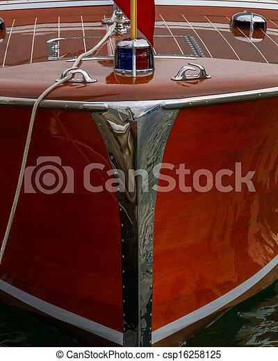 Antique boat shows exquisite craftsmanship and care - csp16258125