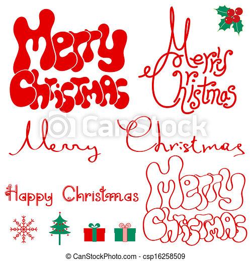 Merry Christmas text. - csp16258509